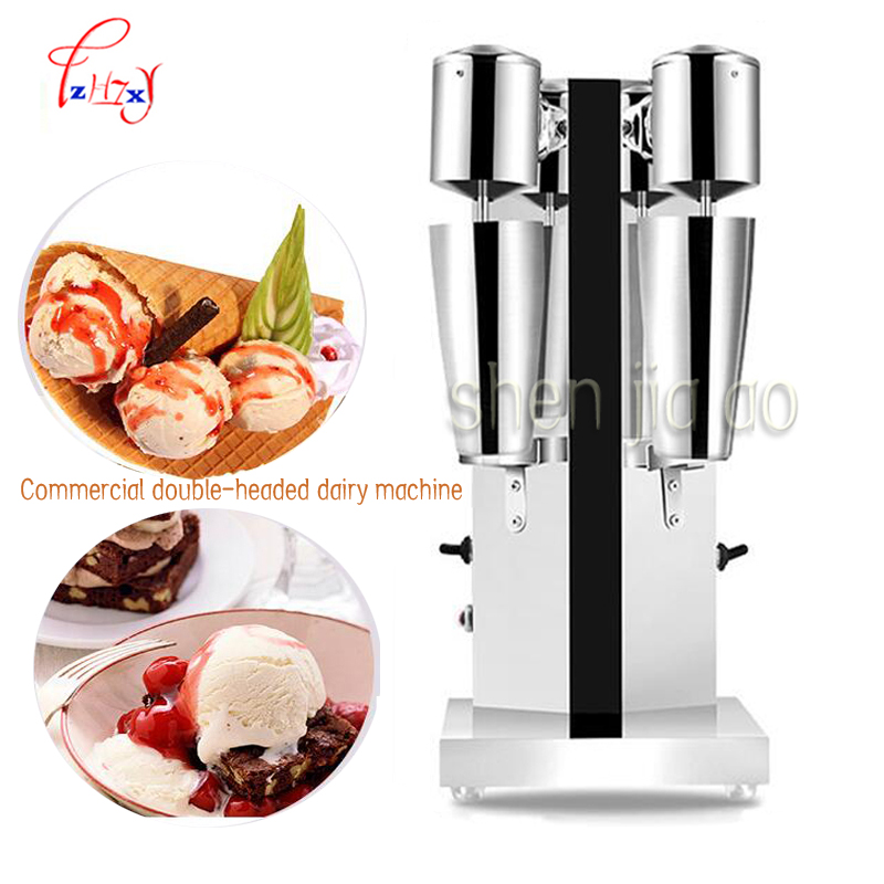 Commercial milk tea mixer Double head milkshake machine Drink Mixer Blender milk shaker Milk bubble mixing machine 1pc 220v commercial single double head milkshake machine electric espresso coffee milk foam frother machine bubble maker