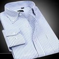 High Quality Men's Oxford Shirts Wrinkle Resistant Slim Fit Dress Button-Down Long Sleeve Fashion Brand Man Shirts Non-iron plus