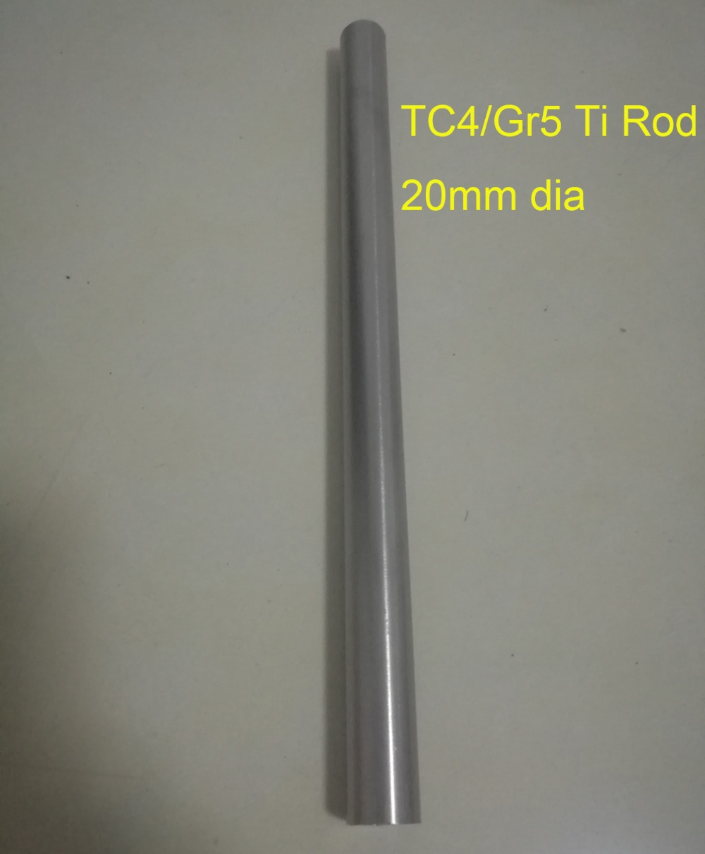 Tool parts DIY material 20mm Dia TC4 GR5 Titanium rod Length about 300 mm pc