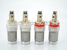 Free shipping 4pcs AB-302(R) Platinum Plated tellurium Copper Speaker Binding post Speaker