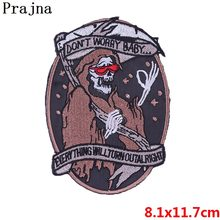 Prajna Jurassic Snake Buddha Riverdale Rock Patch Band Viking Punk Skull Iron On Free Biker Patches Embroidery Patch For Clothes(China)