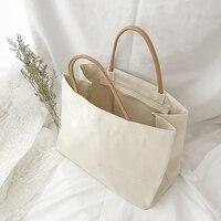 Large Canvas Shopping Bag Tote Eco Friendly Reusable Shopper Bag Grocery Supermarket Big Volume Bags Casual Handbag for Women