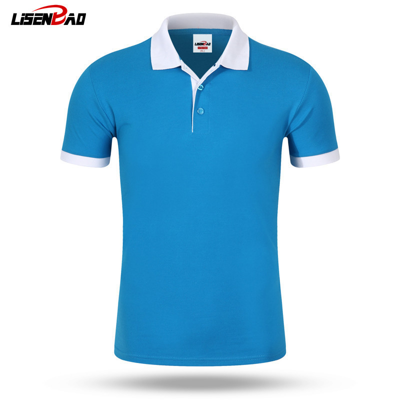 DIY LOGO Customization Men's Brand   Polo   Shirt For Men Designer   Polos   Men Cotton Short Sleeve shirt jerseys