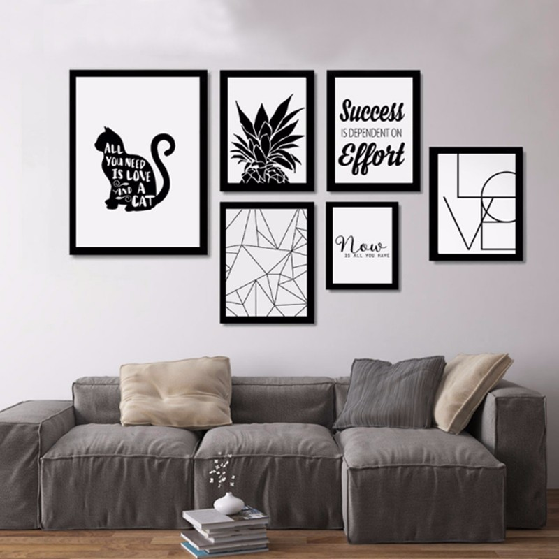 Nordic Poster Inspiring Quotes Canvas Painting Wall
