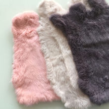 Multicolor Real Rabbit Fur Sale By Whole Piece Fluffy Rabbit Leather Fur DIY Home Decor Clothing Accessories High Quality(China)
