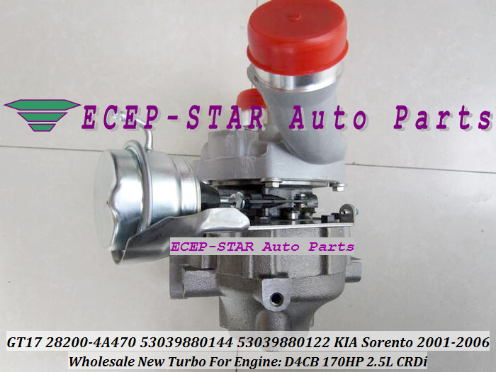 Otomobiller ve Motosikletler'ten Hava Emiciler'de Ücretsiz Gemi BV43 28200 4A470 0144 53039700144 53039700122 Turbo Turbo KIA Sorento Için 2.5L CRDi 01 Hyundai D4CB Euro 4 ECEP-STAR Auto Parts