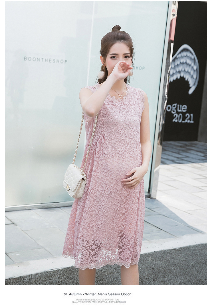 Tcyct 2017 summer pink sleeveless hollow out lace maternity dress this is one blouses price for daughter or motherif you want to clothing set for all familyplease add your blouses into your shopping cart ombrellifo Choice Image
