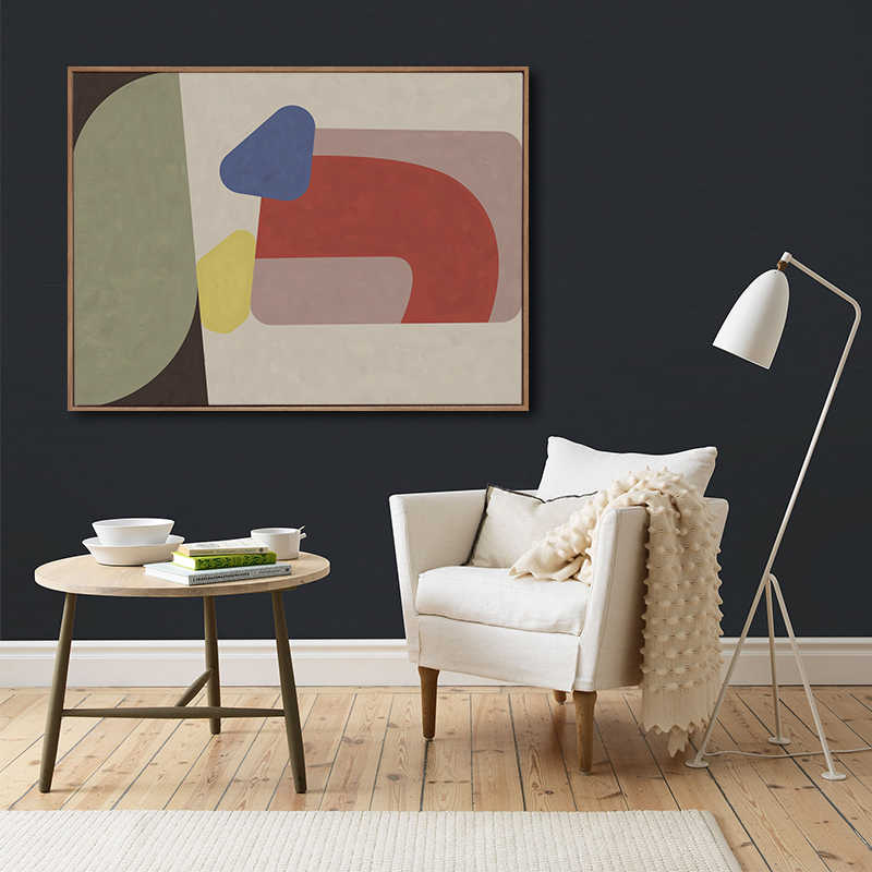 Buzart elephant abstract pattern with  Geometric figure art canvas posters for home wall decorations No Frame