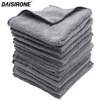 12PCS 35x35cm Coral Velvet Plush Microfiber Car Wash Cleaning Cloths Car Care Microfibre Wax Polishing Detailing Drying Towels фото