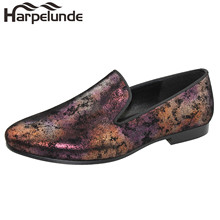 Harpelunde Men Dress Wedding Shoes Painting Leather Flats