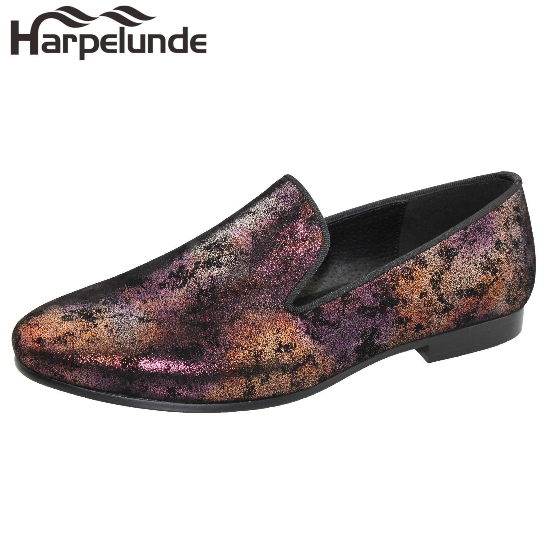 Homens Assorted Flats Sapatos Pintura Harpelunde De Se Vestem Casamento Couro rnqzxwrPS