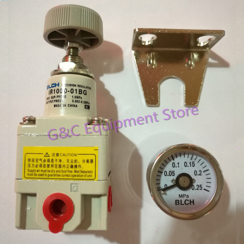 New 1 PC Precision Pressure Regulating Valve IR1000 01BG With Gauge And Bracket Munal Control 0