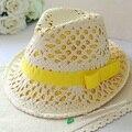 Oco de Ráfia Chapéus de Sol Para Adultos Moda Dobrável Suave Panamá Chapéus de Sol Chapéus De Palha De Ráfia Verão Mulheres Protetor Solar Respirável Cpas