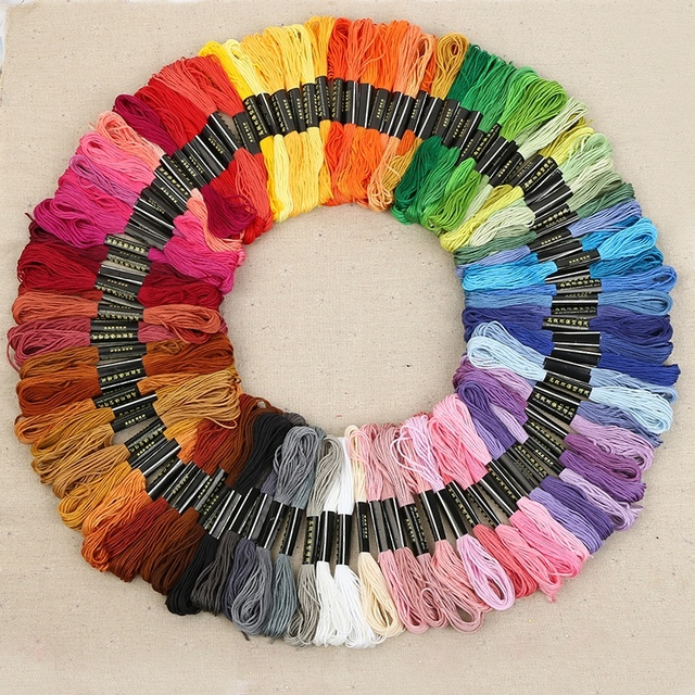 New Embroidery Floss 50100150 Skeins Embroidery Thread Rainbow
