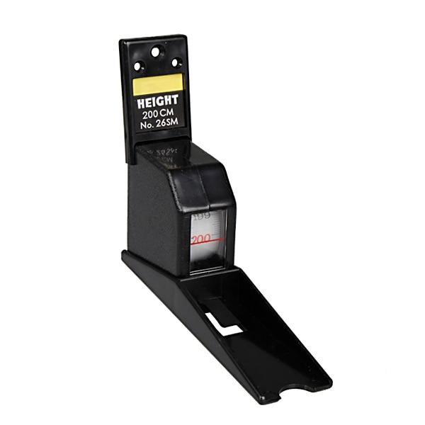 200cm preto wall mounted altura haste medidor