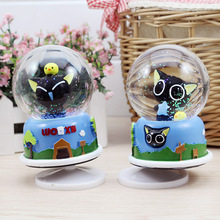 Resin New Luo Xiaohei Music Crystal Ball Creative Rotary Music Box Festival Gift