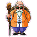 Dragon Ball Z Master Roshi Stickers For Fixed Gear & Luggage -  Reusable Dragonball Refrigerator Sticker Son Goku S18