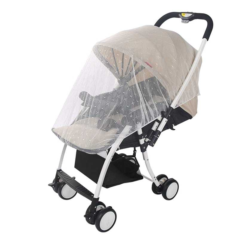 Baby Carriage Mosquito Net Cover Jacquard 1 Pack White For Stroller,Bassinet,Portable And Durable Baby Insect Netting,Infant B