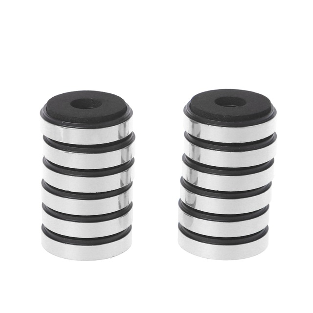 chenpaif 12Pcs Shock Absorption Damping For Audio Stereo Speakers Amplifier Feet Pad Black-1.18x0.31In