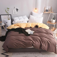 1pcs Twin Full Queen King Size 100% Cotton Duvet Cover Solid Color Comforter Cover Duble Side Can Be Used Blanket Cover