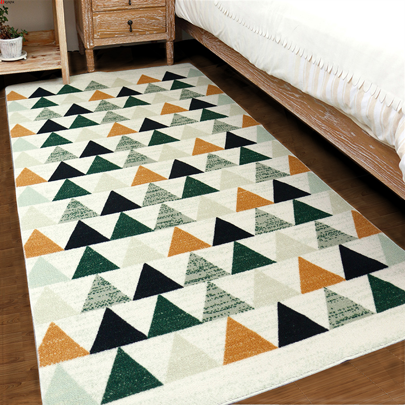 Geometric pattern bedside rug,Nordic living room sofa carpet,Tea table blanketGeometric pattern bedside rug,Nordic living room sofa carpet,Tea table blanket