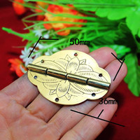 Antique Yellow Brass Lock Set Fit for 30 50cm Wooden Box,Vase Buckle Metal Wooden Box Hasp Latch Lock+Hinge+Handle+Lock