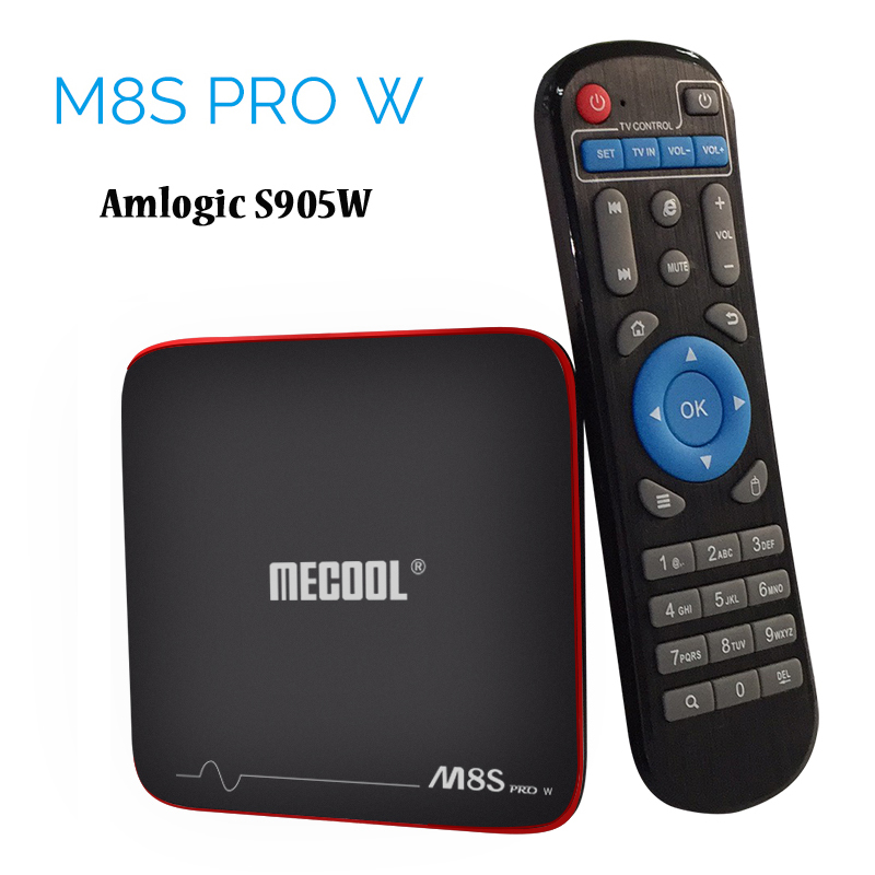 цена на Original Mecool Android 7.1 TV Box Amlogic S905W Quad Core 2GB 16GB Smart Mini PC 4K 3D Media Player 2.4G Wifi M8S Pro W Boxes