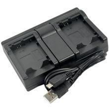 Новый USB Батарея двойной Зарядное устройство для DMW-BLH7 blh7e blh7pp dmc-gm1 gm1k gm1s gm1w gm1d gm5 gm5k Камера
