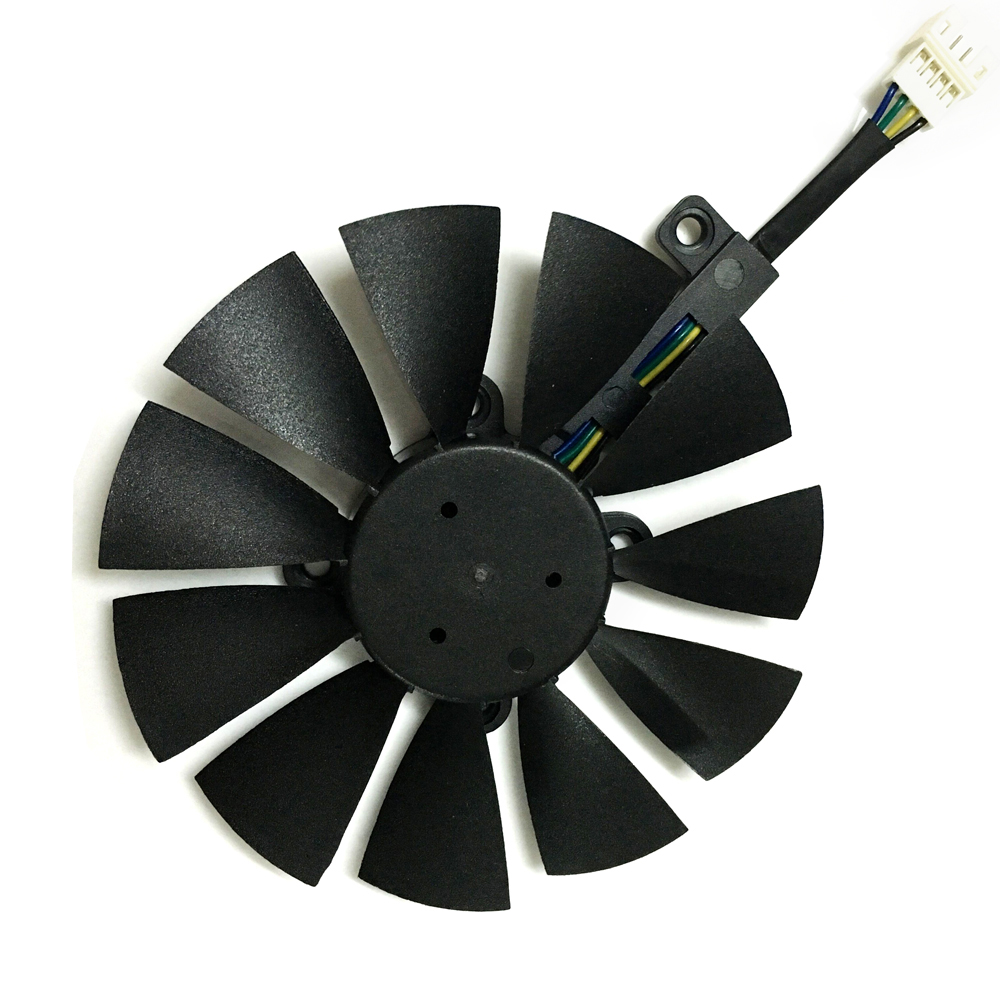 Computer video card Cooling Fan GPU VGA Cooler as replacement For ASUS R9 FURY 4G 4096 strix graphics card cooling 55mm aluminum cooling fan heatsink cooler for pc computer cpu vga video card bronze em88