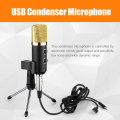 Zeepin MK-F100TL USB Condenser Sound Recording Audio Processing Wired Microphone with Stand for Radio Braodcasting KTV Karaoke
