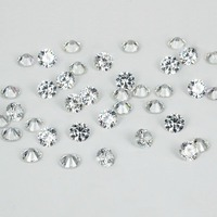 Crystal Color Brilliant AAA Cubic Zirconia Stones Round Shape Pointback Diamond DIY Jewelry Findings Supplies Accessory