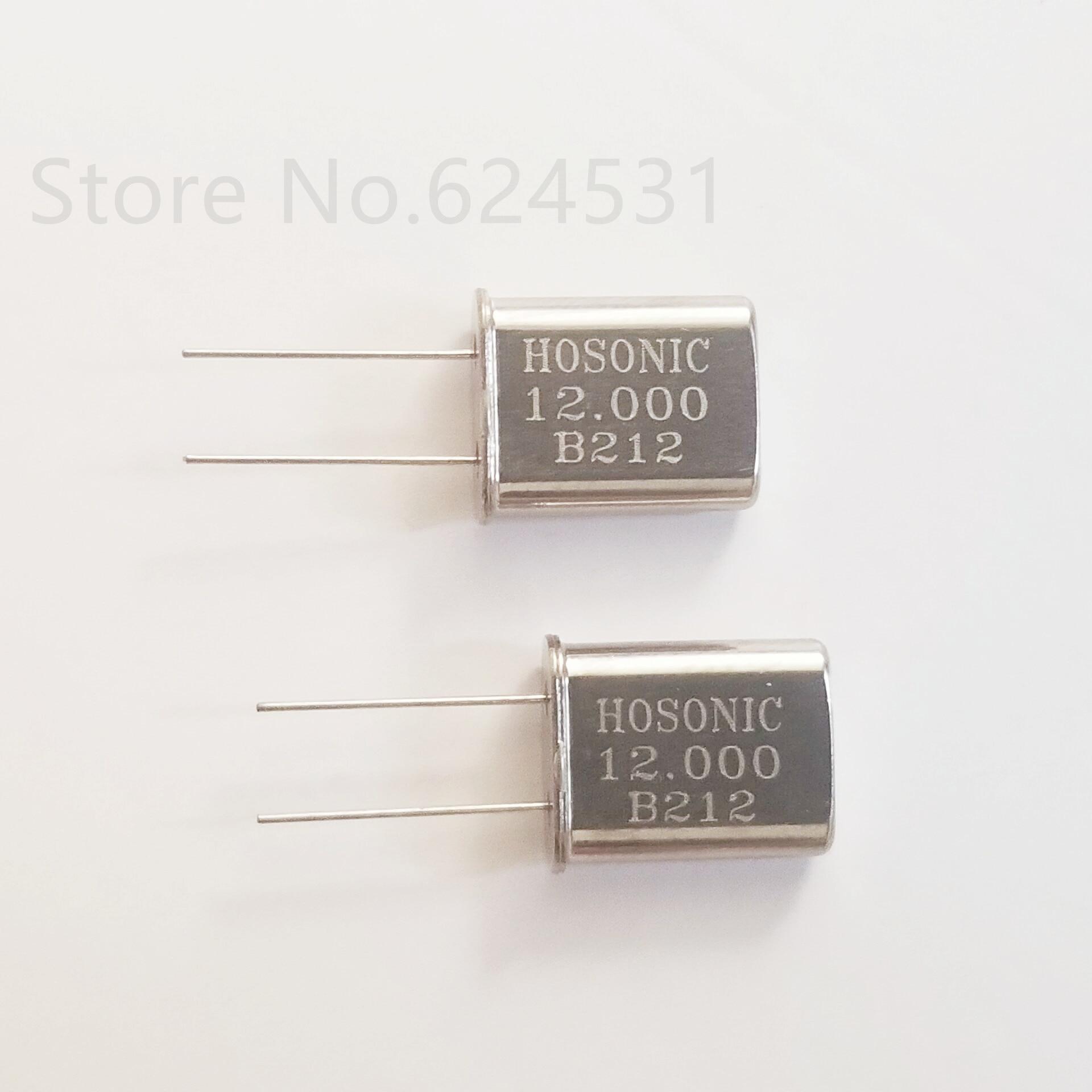 10pcs In-line passive crystal 2P HC-49U 12MHZ 12M 12.000MHZ resonator thumbnail