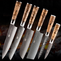 62HRC Japanese chef Knives Damascus Knife, kitchen knife Damascus VG10 Stainless Steel Knives 67 Layer Shadow wood copper nail