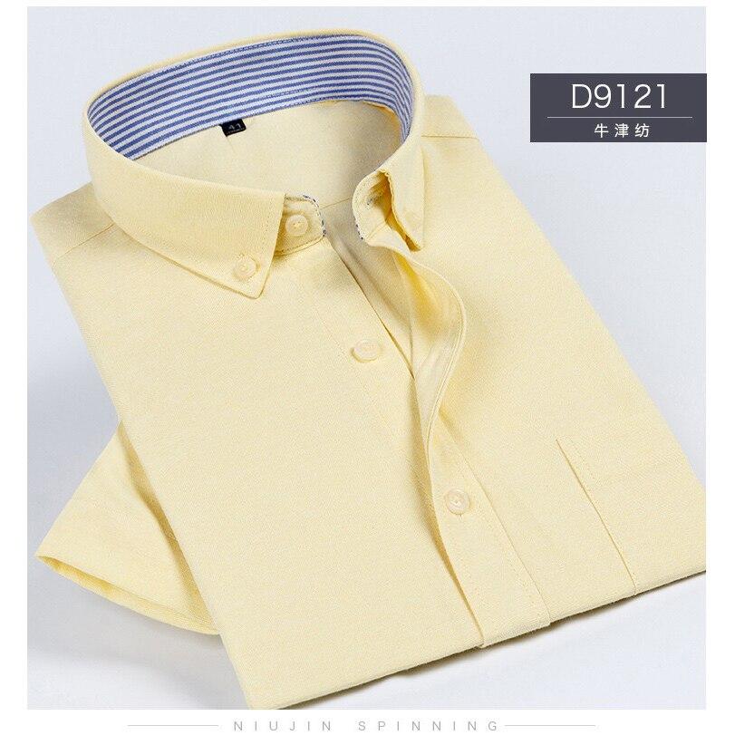 Summer New Men Shirt Oxford Short Sleeve Shirt Men Fashions Mens Shirts Casual Slim Fit Solid Color Plus Size Shirts Men Dress