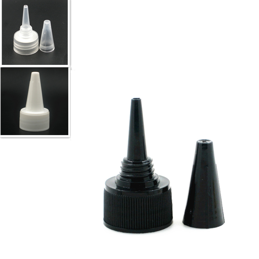 24-410 Plastic Dispensing Cap Ribbed Twist Top Cap X10