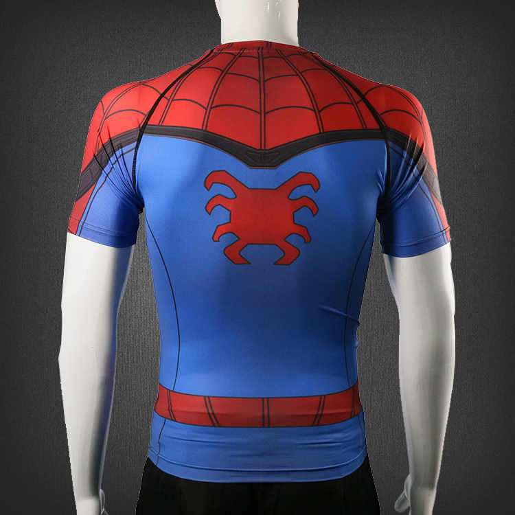 2cd01075 ... 2017 Hot Movie Spiderman Homecoming Peter 3D printed Quick Dry Tights  cosplay pullover & t-