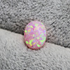 pink opal stone loose beads gemstones oval shape flat base cabochon created gemstone for jewelry making DIY precious stones