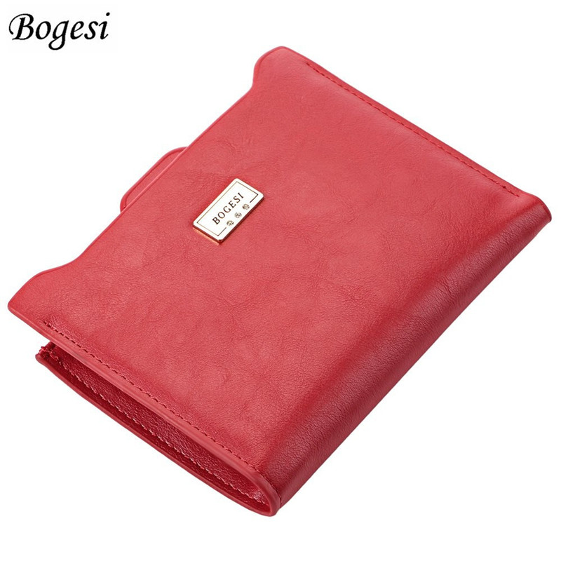 Bogesi Designer Slim Women Wallet Thin Zipper Ladies PU Leather Coin Purses Female Purse Mini Clutch Cheap Womens Wallets bogesi men s wallets famous brand pu leather wallets with wallet card holder thin slim pocket coin purse price in us dollars