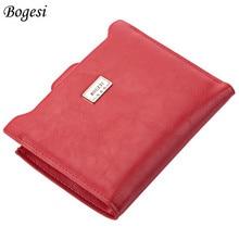 Bogesi Designer Slim Women Wallet Thin Zipper Ladies PU Leat