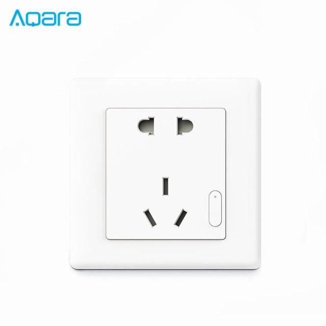 US $24 41 34% OFF Original Xiaomi Aqara Smart Wall Switch Socket Plug Light  Control ZiGBee Wireless Key APP Wireless Remote For Smart Home 10A AC-in