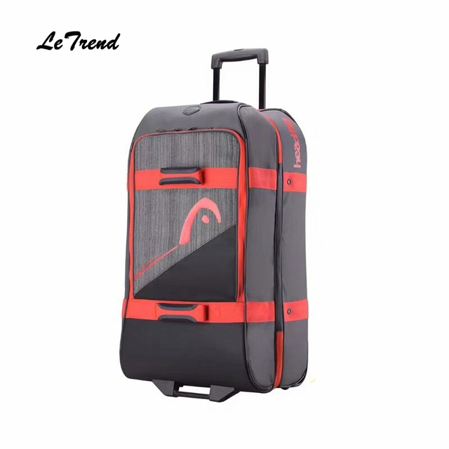Letrend 28 inch Gray High-capacity Rolling Luggage Business Travel Bag Checked Suitcase Wheels Trolley Men Multifunction Trunk