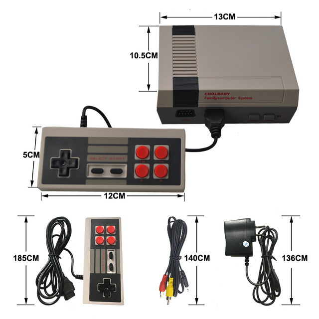 HDMI/AV Output Game Player Retro Mini TV Handheld Video Game Console For Nes Games Built-in 500 Different Games For PAL&NTSC