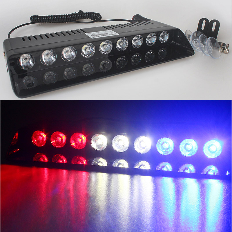 car-styling 9 LED Windshield Warning Light Viper Car Flashing Strobe Lightbar Police Lights Truck Beacons Emergency Signal lamp s2 shovels ray bead 96w led flashing police strobe intimidator windshield dash light