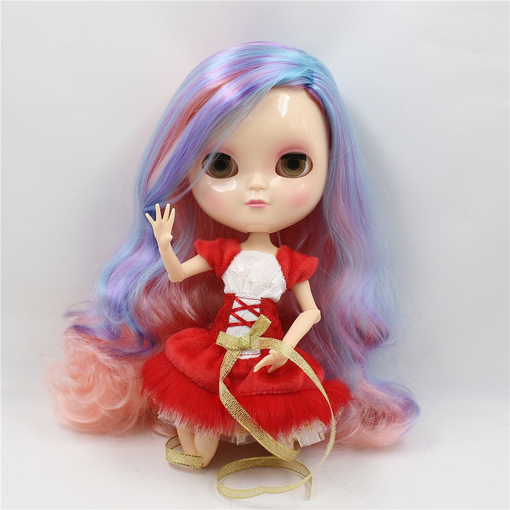 Neo Blythe Doll with Multi-Color Hair, White Skin, Shiny Face & Jointed Azone Body 1