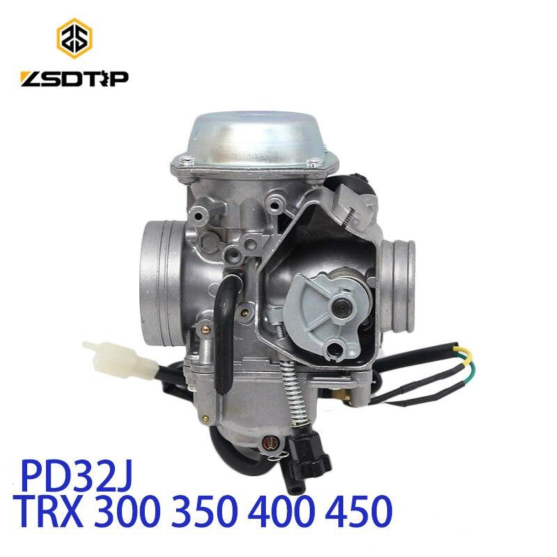 ZSDTRP PD32J 32mm Vide Carburateur pour honda TRX350 400 450 1997-2006 universel autre 300cc à 450cc moteur de course VTT UTV