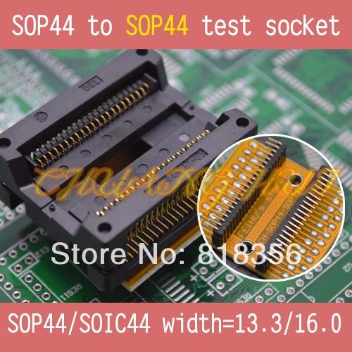 SOP44 to SOP44 test socket PSOP44 SOIC44 SOP44 IC TEST SOCKET width=16mm/13.3mm