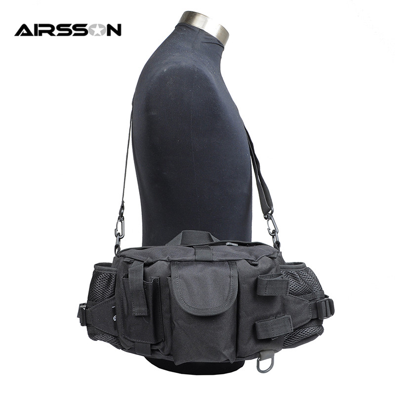 Outdoor 900D Nylon Multifunctional Tactical Male Waist Bag with Water Bottle Pouch High Density Hiking Camping Shoulder Bag Case jinjuli nylon tactical pouch