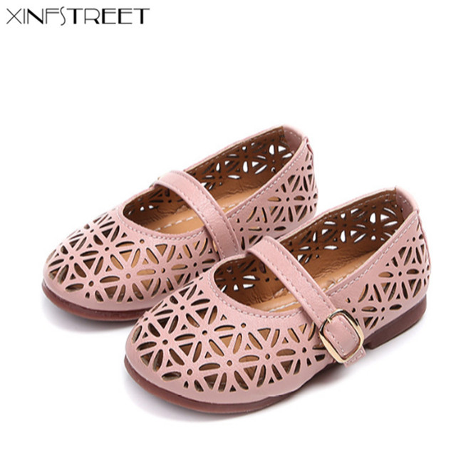 Xinfstreet Summer Baby Girls Shoes Princess Breathable Flower Soft Kids  Girls Shoes Soft Toddler Children Flats Shoe f28ee61915e7