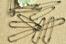250pcs Antique Bronze Brooch 50x12mm sturdy 2 Inch Heavy Duty Giant Safety Pins for Blankets Skirts