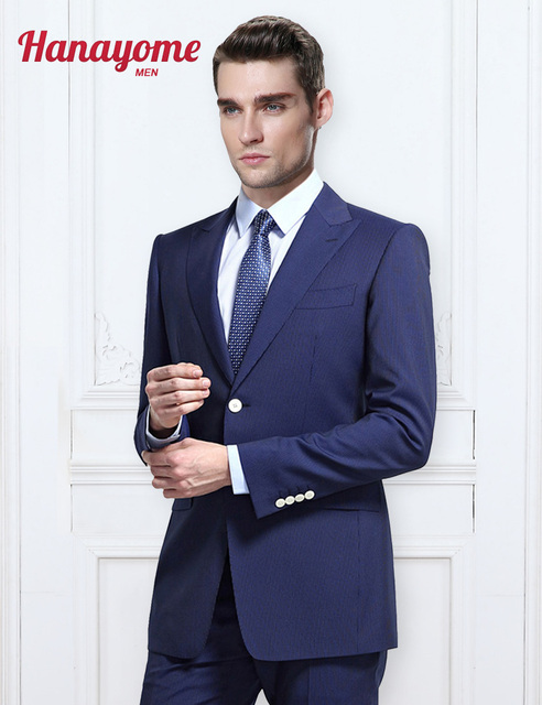 Royal Blue Suits For Men S 2 Pieces Por Formal Wedding Event Casual Suit Pants